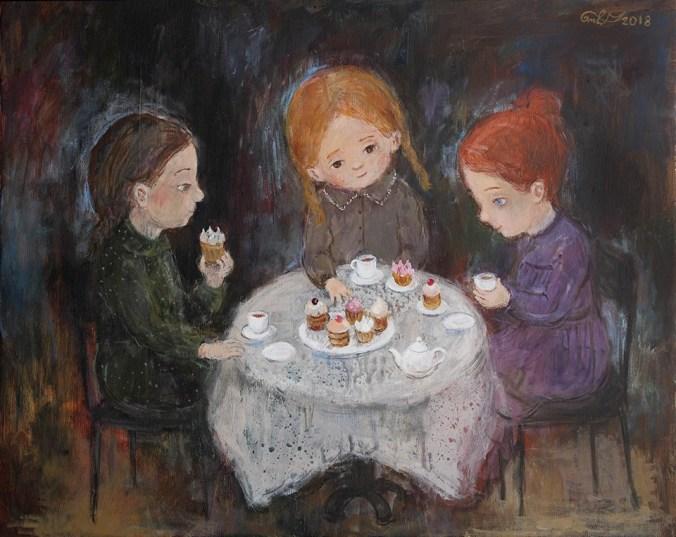 Tea time, Nino's art